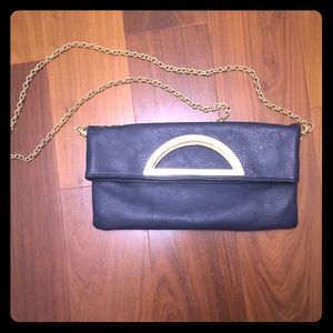 Navy and gold purse